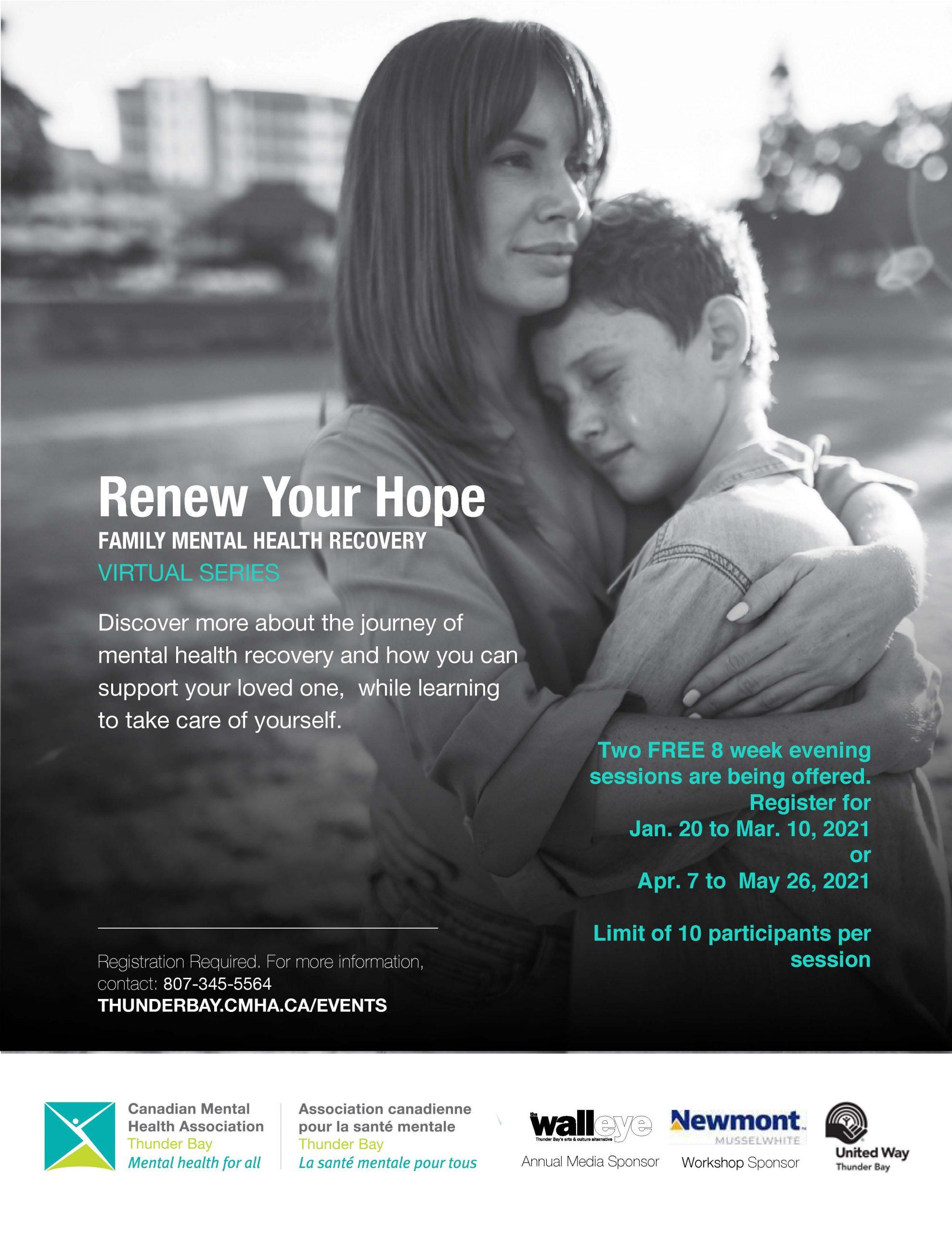 Virtaul Family Mental Health Group Poster