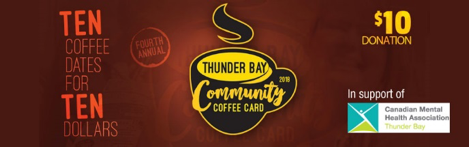 Thunder Bay Community Coffee Card A gift that promotes mental health