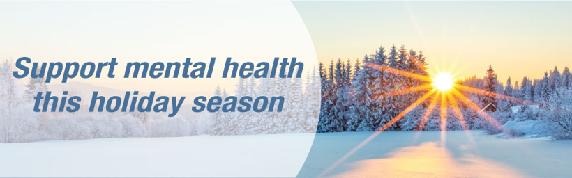 Support mental health this holiday season