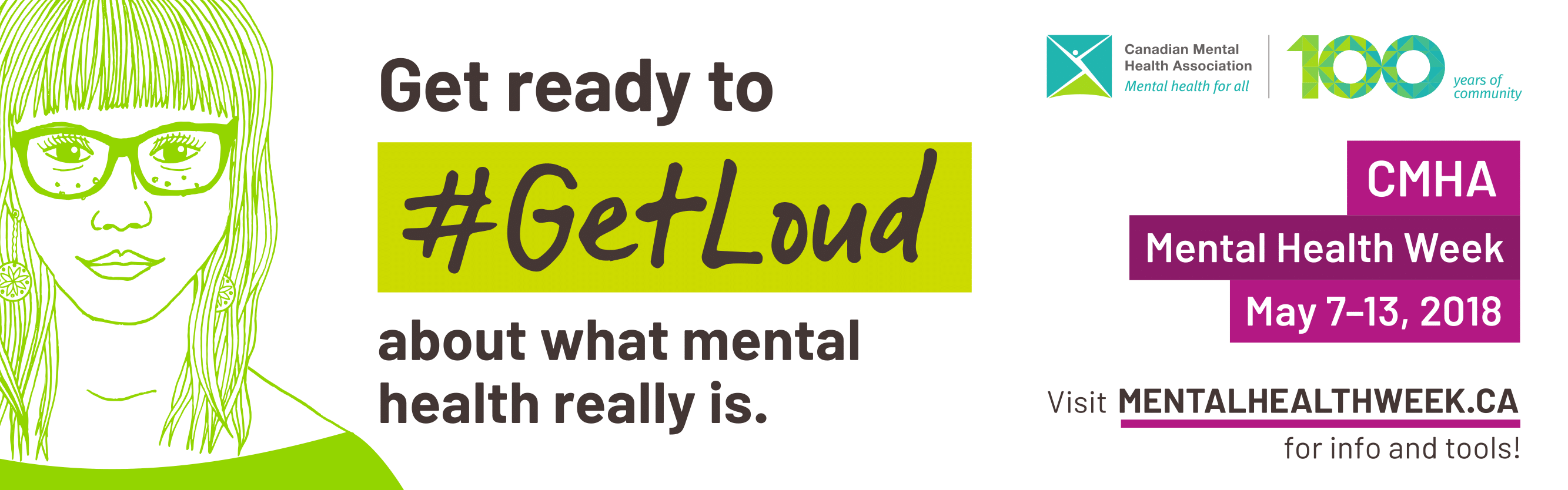 Get Ready to #GetLoud for Mental Health Week, May 7-13, 2018