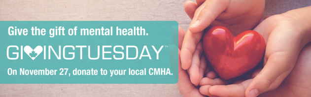 Support mental health, recovery and awareness for GivingTuesday