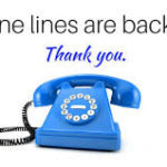 phone lines are back