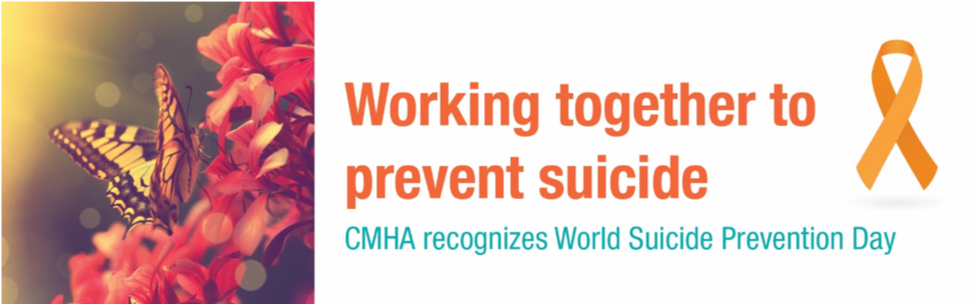 CMHA recognizes World Suicide Prevention Day
